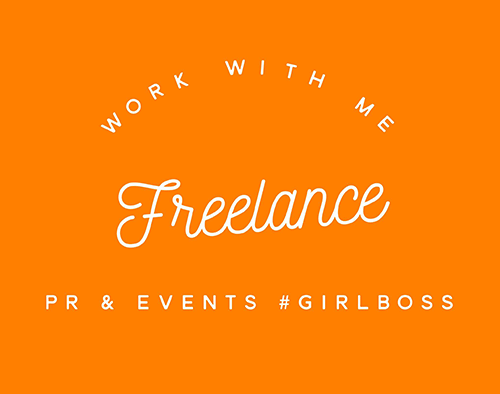Work With Me - Freelance PR & Events Consultant