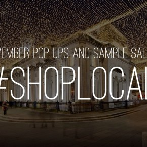 November Sample Sales and Pop Ups